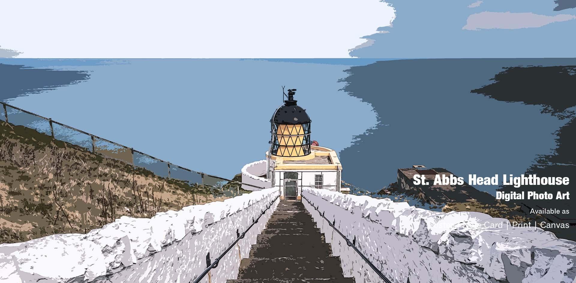 St Abbs Head Lighthouse Ponteland Print & Publishing