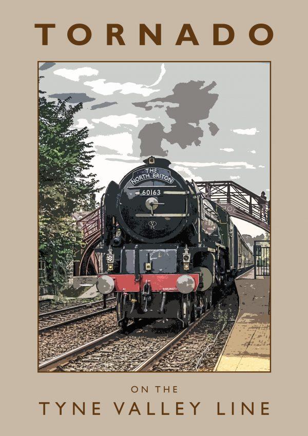 Tornado Retro Poster Ponteland Print & Publishing