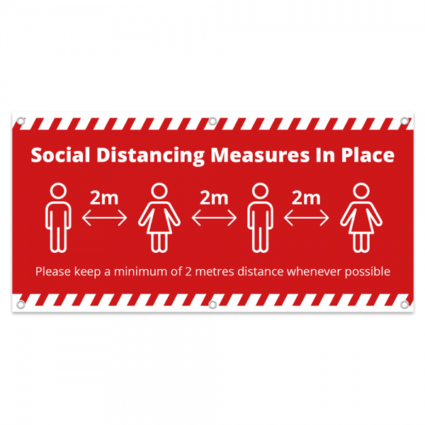 Covid 19 Social Distance Banner from Ponteland Print