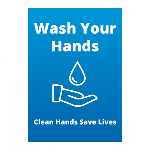 Covid 19 Wash Your Hands Sign from Ponteland Print