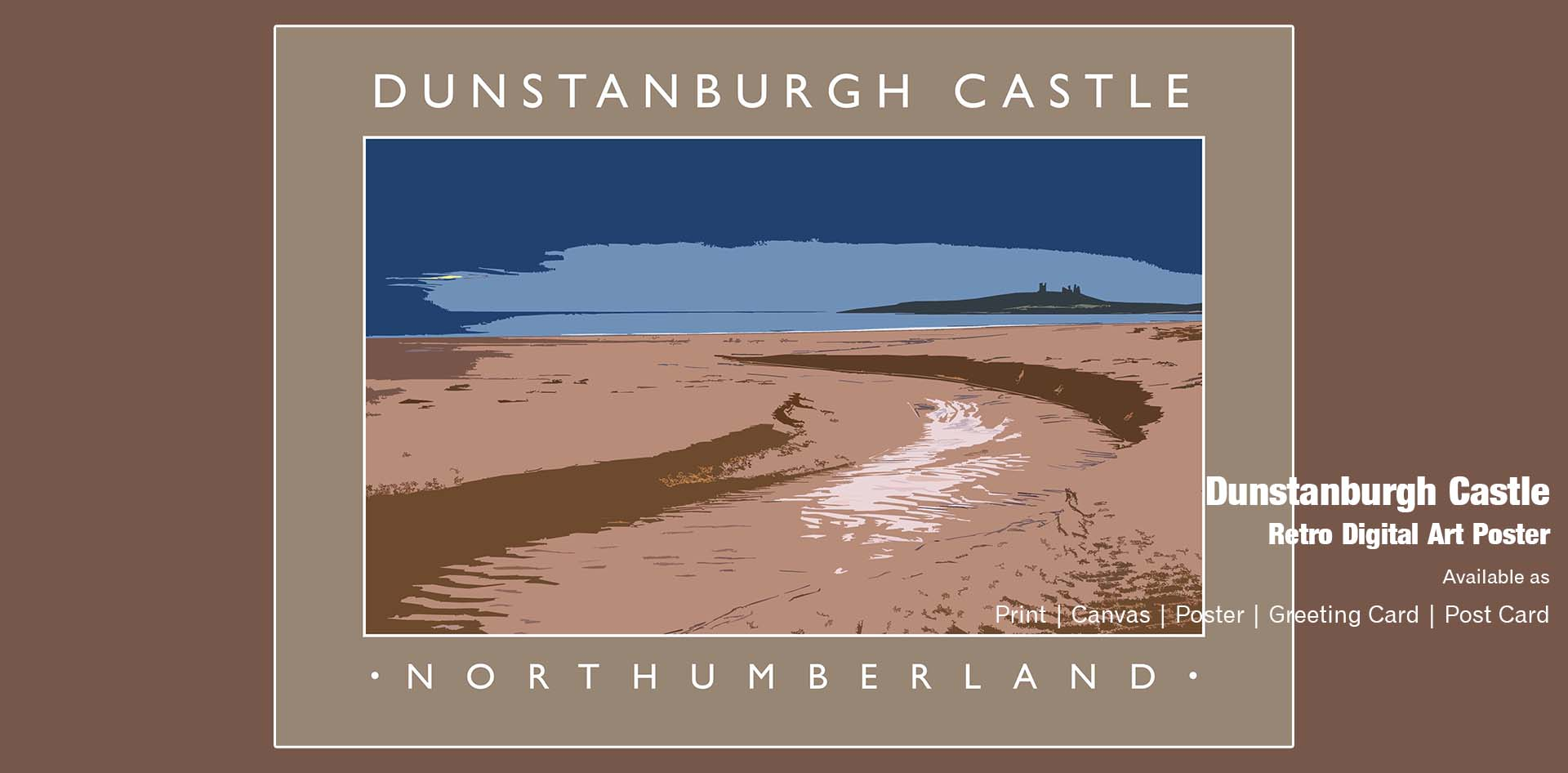 Dunstanburgh Castle Ponteland Print & Publishing