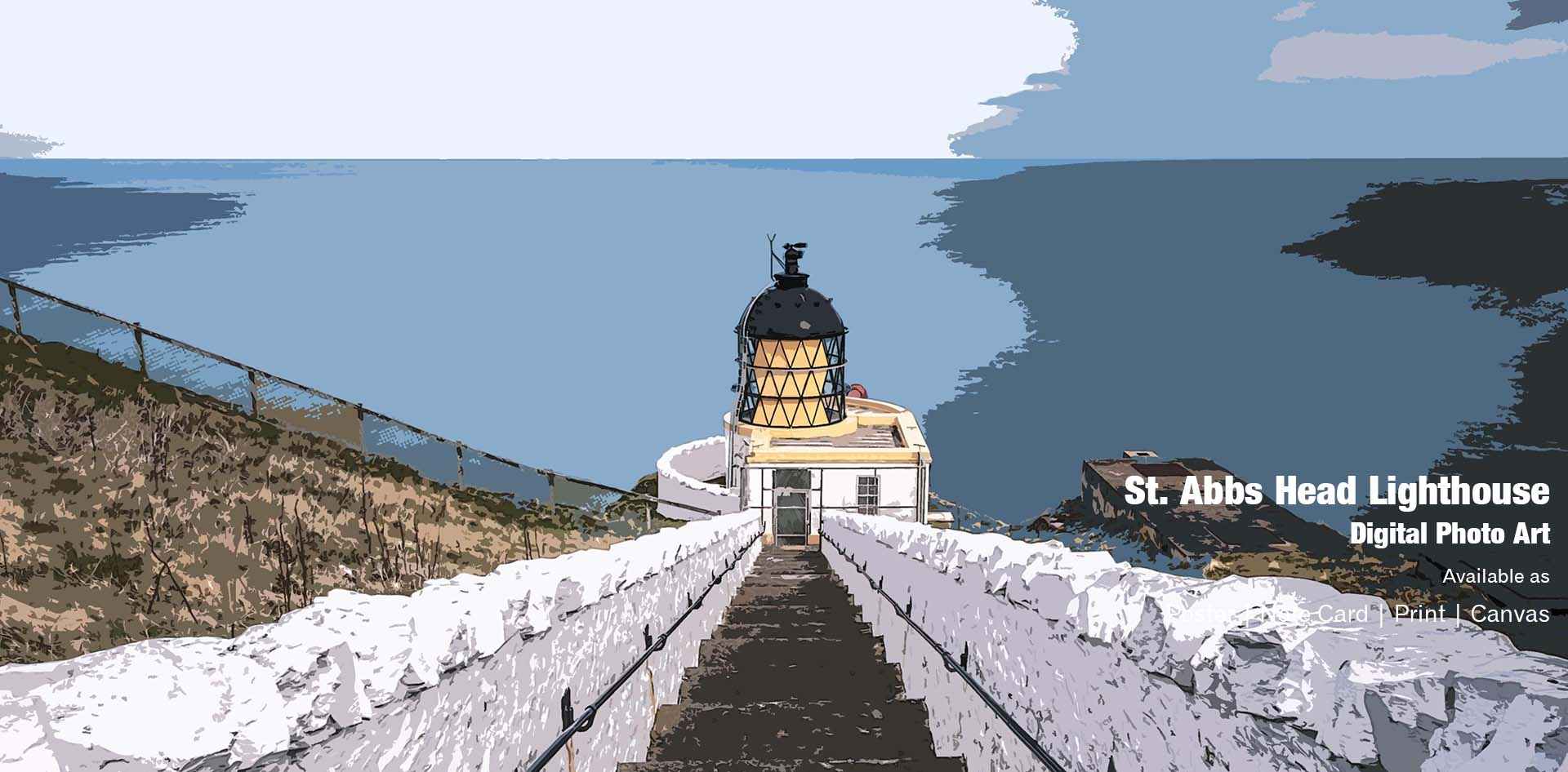 St Abbs Head Lighthouse Ponteland Print & Publishing