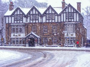 Diamond Inn, Ponteland Winter Snow Scene