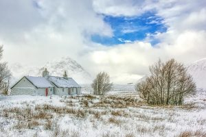 Black Rock Cottage Glencoe-3597 Xmas Card Ponteland Print & Publishing