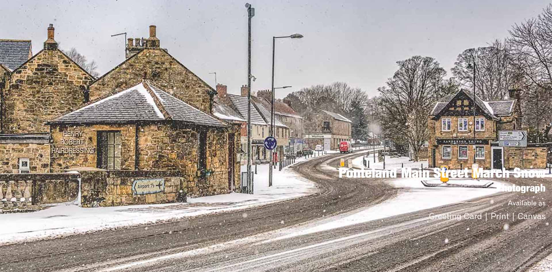 Ponteland March Snow | Ponteland Print & Publishing