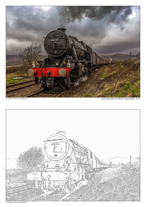 Colouring Books Locomotive 48151 Cumbrian Coast Express - 3711