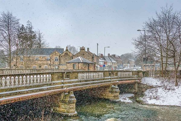Ponteland Bridge Snow Shower-5661 | Ponteland Print