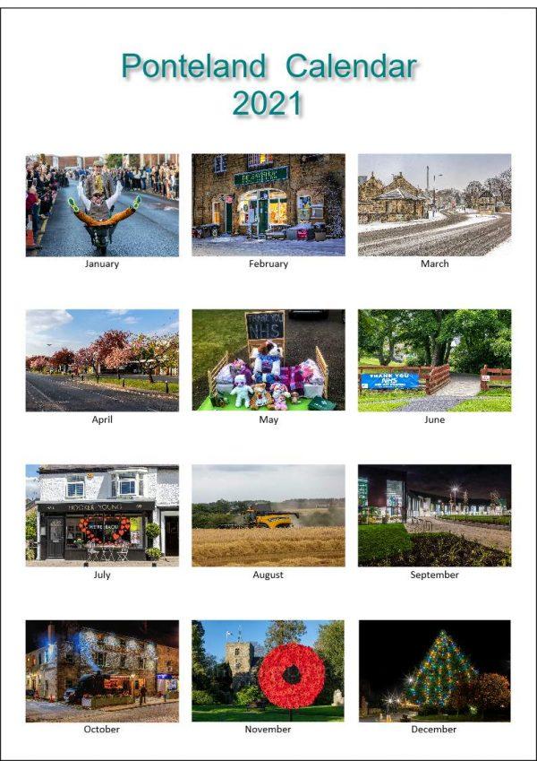 Ponteland Calendar Page Samples | Ponteland Print & Publishing