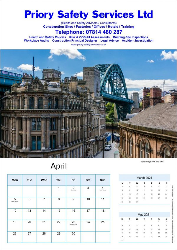 Personalised Corporate Advertising Calendar | Ponteland Print & Publishing