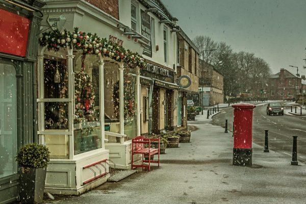 Snow Flurries In Ponteland Main Street-2537 Ponteland Print & Publishing