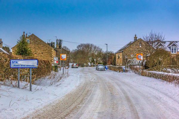 Stamfordham Village Snow-5030 Xmas Card Ponteland Print & Publishing