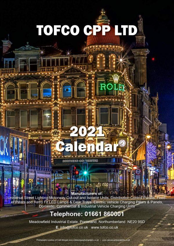 Tofco Calendar 2021 Cover | Ponteland Print & Publishing