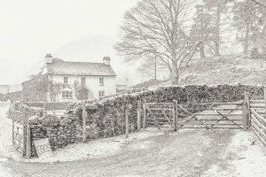 Yew Tree Farm, Lake District Christmas Card, Ponteland Print & Publishing