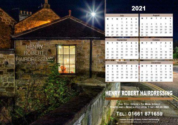 Desk Tent Calendar Back | Ponteland Print & Publishing