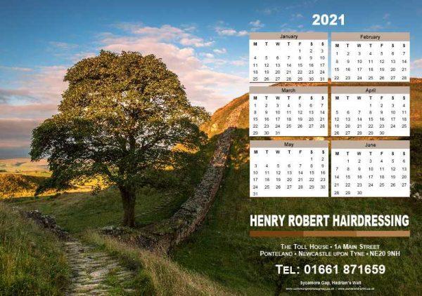 Desk Tent Calendar Front | Ponteland Print & Publishing