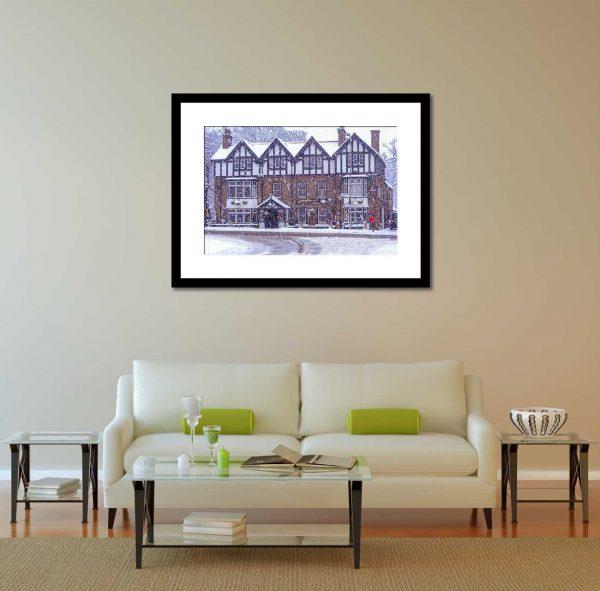 Diamond Inn 2263 Ponteland Print & Publishing Black Frame Mock Up