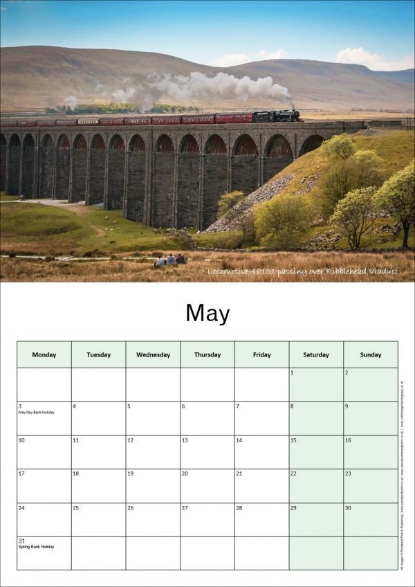 Steam Train Calendar | Ponteland Print & Publishing