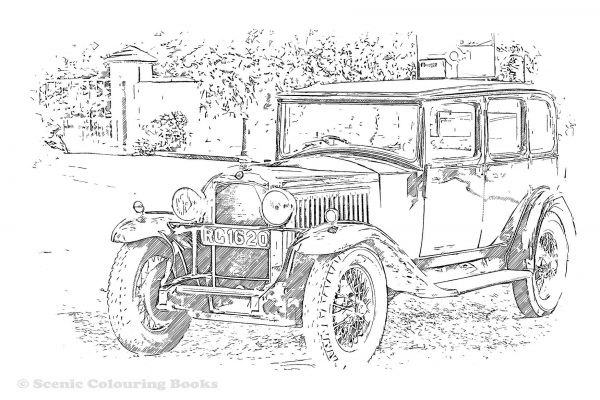 Classic Car Free Sketch Sheet Download