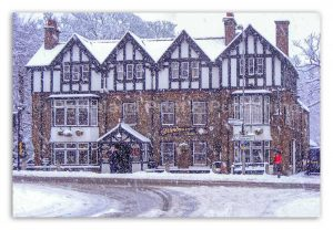 Diamond Inn Ponteland Winter Scene-2263W | Ponteland Print & Publishing