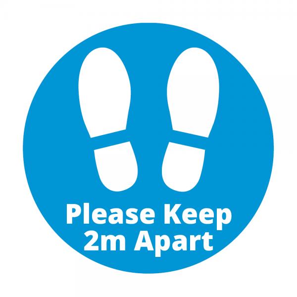 Covid 19 Please Keep 2m Apart Floor Sticker from Ponteland Print