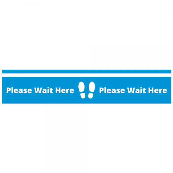Covid 19 Please Wait Here Floor Tape from Ponteland Print